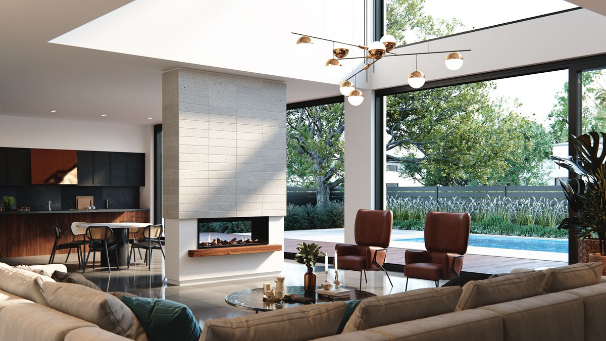 Double sided fireplace - Element 1200 DS by Real Flame ...